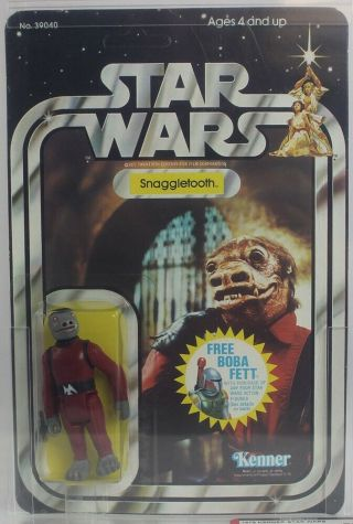 1978 Vintage Kenner Star Wars 21 Back - G Snaggletooth Afa 70 Ex,