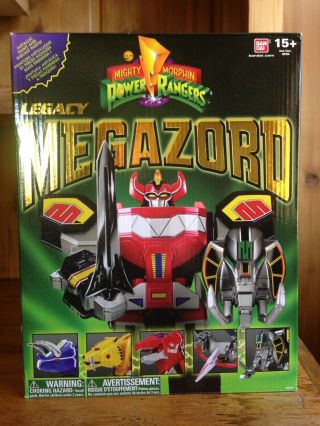 Bandai Mighty Morphin Power Rangers Legacy Mmpr 2015 Dino Megazord 100 Complete