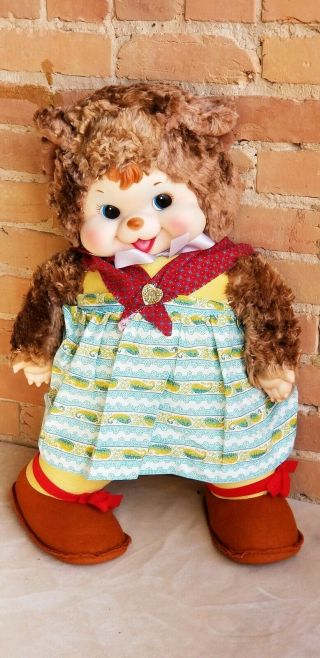 "Vintage Rushton Mama Bear Doll Unplayed W/ Best On The Net 26 "" Tall"