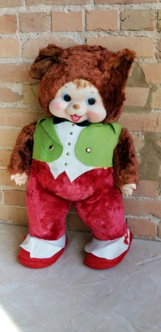 "Vintage Rushton Papa Bear Doll Unplayed W/ Best On The Net 26 "" Tall"