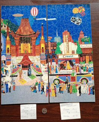 """Anne Belle Hand Crafted Wooden Jigsaw Puzzle """" Hollywood Star Wars & Camelot """""""