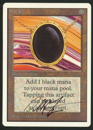 1x Unlimited Mox Jet Signed Mtg Unlimited Dan Frazier - Kid Icarus -