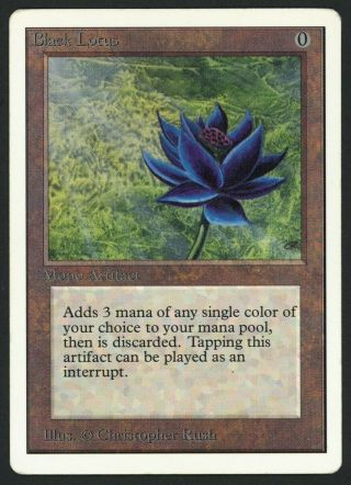 1x Unlimited Black Lotus (light Crease) Mtg Unlimited - Kid Icarus -