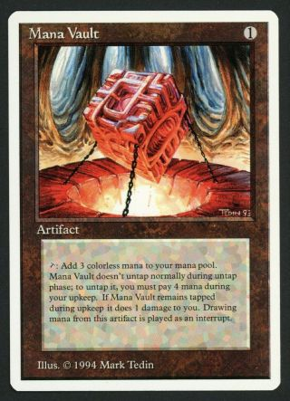 1x Summer Magic (edgar) Mana Vault Mtg Summer Magic - Kid Icarus -