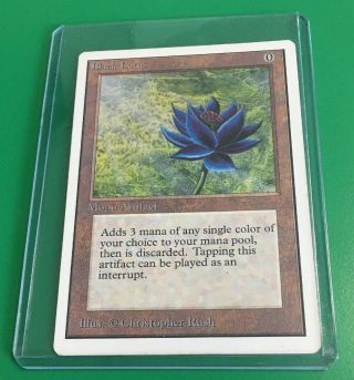 Black Lotus Mtg Unlimited Edition (a Power 9 Card)