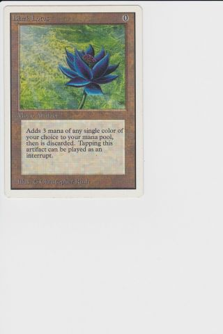 Black Lotus MTG Unlimited Edition (a Power 9 card) 3