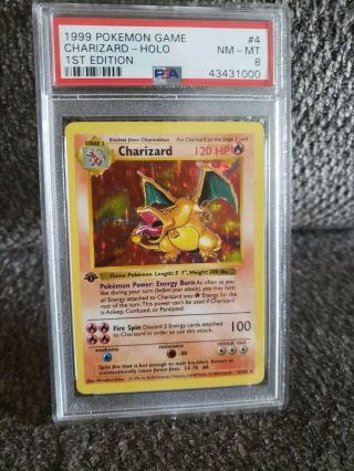 1st Edition Charizard Shadowless Psa 8 Mnt