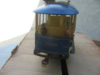 Lionel 1100 Rapid transit Summer trolley Standard and figures 1910? 3