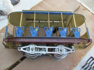 Lionel 1100 Rapid transit Summer trolley Standard and figures 1910? 4