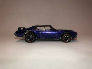 Rare Purple Redline Hotwheels Olds 442,  Wing