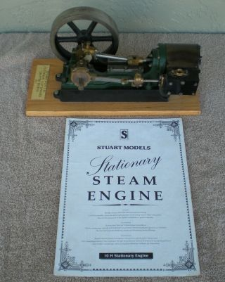 "Awesome Stuart 10h Stationary 1 1/2 "" Bore / Stroke Steam Engine Model"