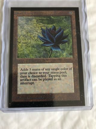 1x Mtg Magic The Gathering Black Lotus Collector