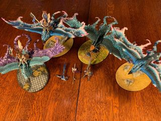 High Elves Army Warhammer Age Of Sigmar Painted Aos Dragon Force& Phoenix Temple