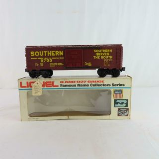 Lionel 6 - 9700 Southern Boxcar Brown With Yellow Lettering Prototype Box