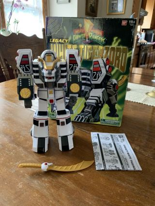Bandai Mighty Morphin Power Rangers Legacy White Tigerzord - Complete