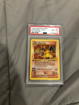 Psa 8 1st Edtion Shadowless Charizard