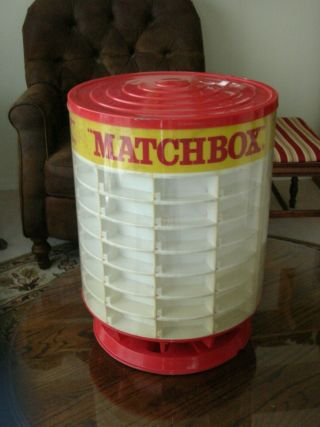 Rare Vintage Matchbox Car 1960s Rotating Display Case In