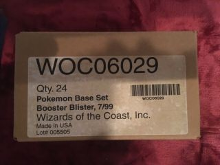 Pokémon Base Set Booster Blister Full Box