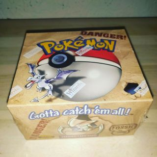 Factory Fossil Set Pokemon Booster Box Wotc Unlimited 1999 English