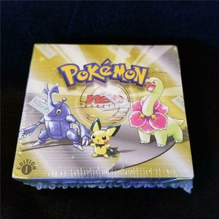 Pokemon 1st Edition Neo Genesis Booster Box Factory Nm/exc Wotc