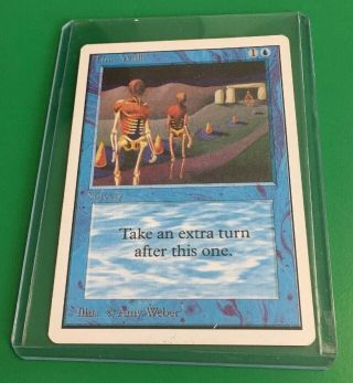 Time Walk Mtg Unlimited Edition (a Power 9 Card)