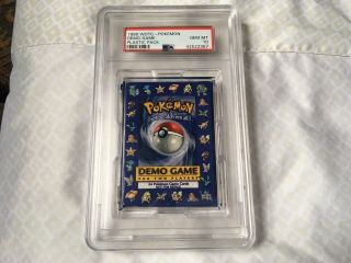 Pokemon Game Psa 10 Gem Base Set Shadowless Demo Pack 1998 2 Player E3