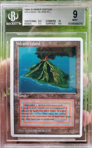 Vintage Magic | Bgs 9 Mtg Summer Magic Volcanic Island.  5 From 9.  5 W/10 Subgrade