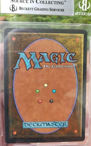 Vintage Magic | BGS 9 MTG Summer Magic Volcanic Island.  5 from 9.  5 w/10 SUBGRADE 2