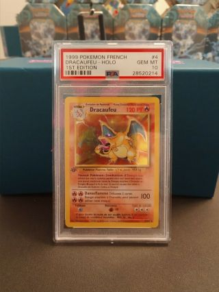 Psa 10 1st Edition French Charizard (dracaufeu) Low Pop Base Set