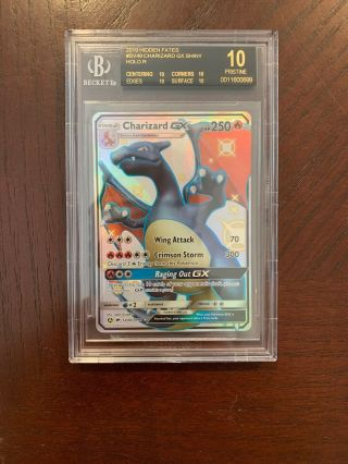 Black Label Bgs 10 Hidden Fates Shiny Charizard Pristine Sv49