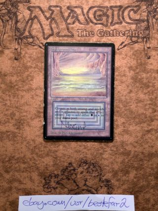 1 X Underground Sea Mtg Beta Rare Dual Land Signed