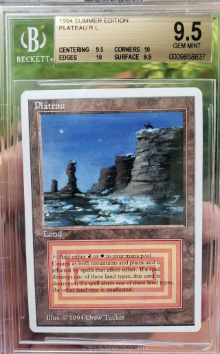 Vintage Magic | Bgs 9.  5 Mtg Summer Magic Plateau.  5 From Pristine 10,