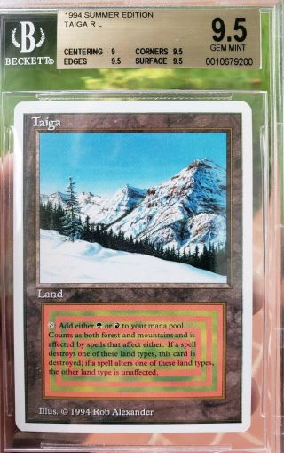 Vintage Magic | Bgs 9.  5 Gem Mtg Summer Magic Taiga,