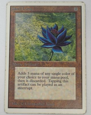 Black Lotus Unlimited Magic The Gathering Mtg Card