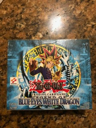 Yugioh Unlimited Legend Of Blue Eyes Lob Booster Box North American 2002