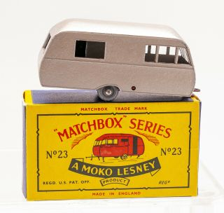 MATCHBOX LESNEY Moko 23C BLUEBIRD DAUPHINE Caravan B5 black door 2