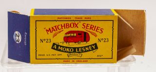 MATCHBOX LESNEY Moko 23C BLUEBIRD DAUPHINE Caravan B5 black door 7