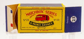 MATCHBOX LESNEY Moko 23C BLUEBIRD DAUPHINE Caravan B5 black door 9