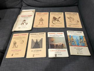 Dungeons And Dragons 1974 3 Volume Box Set,  Supplements 1 - 4,  Ref Sheets