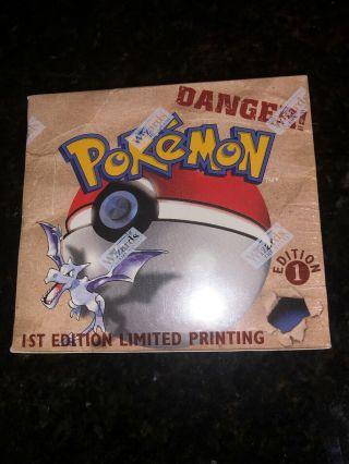 Pokemon Fossil 1st Edition Factory Booster Box.