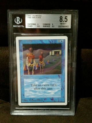 Bgs Graded 8.  5 Unlimited Time Walk Mtg Unlimited Power 9 - Big Blue Beauty