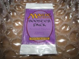 Mtg Factory Arabian Nights Booster Pack.  Juzam,  Bagdad,  Library,  Pyramids