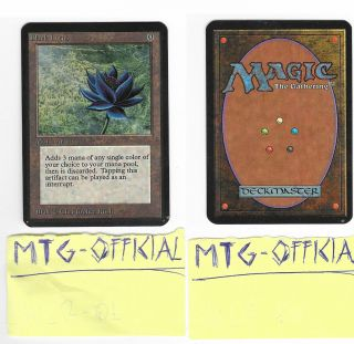 Mtg: Black Lotus Alpha Magic P9 1993 Power 9 Near,  Ready For Grade
