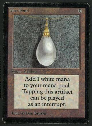 1x Beta Mox Pearl Mtg Beta Power 9 - Kid Icarus -