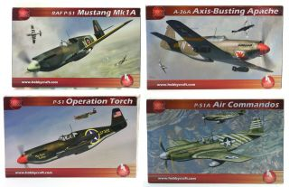 4 Off Hobby Craft 1/32 Scale P - 51 Mustang Plastic Model Kits