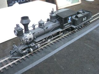 On3 D&rg 4 - 4 - 0.  Max Gray Brass.  Detailed By Mrs Al Kamm