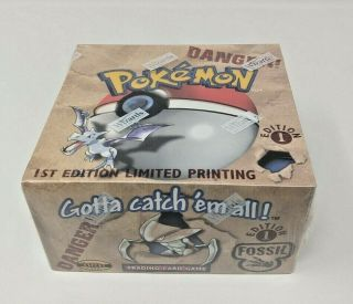 Pokemon Fossil 1st Edition Factory Booster Box