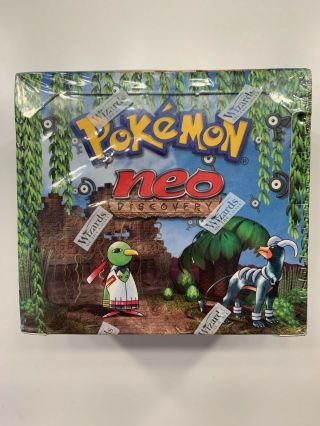 Pokemon Neo Discovery Unlimited Booster Box Factory Wotc 2001 English