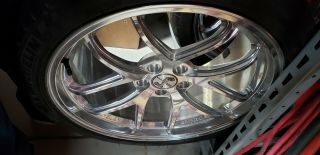 50th Anniversary Mustang Snake Wheels Brushed Chrome With Tires