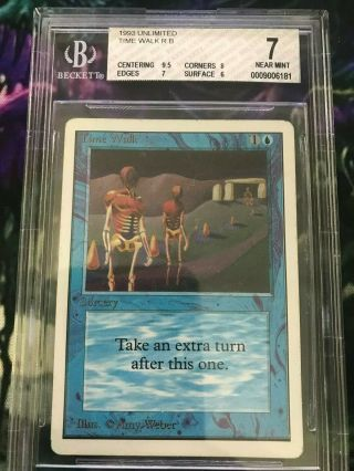 Mtg Unlimited Time Walk Bgs Beckett Graded 7 Near